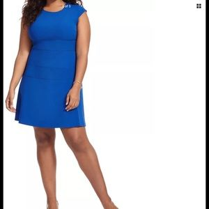 Royal Blue fit and flare dress 14w Vince Camuto